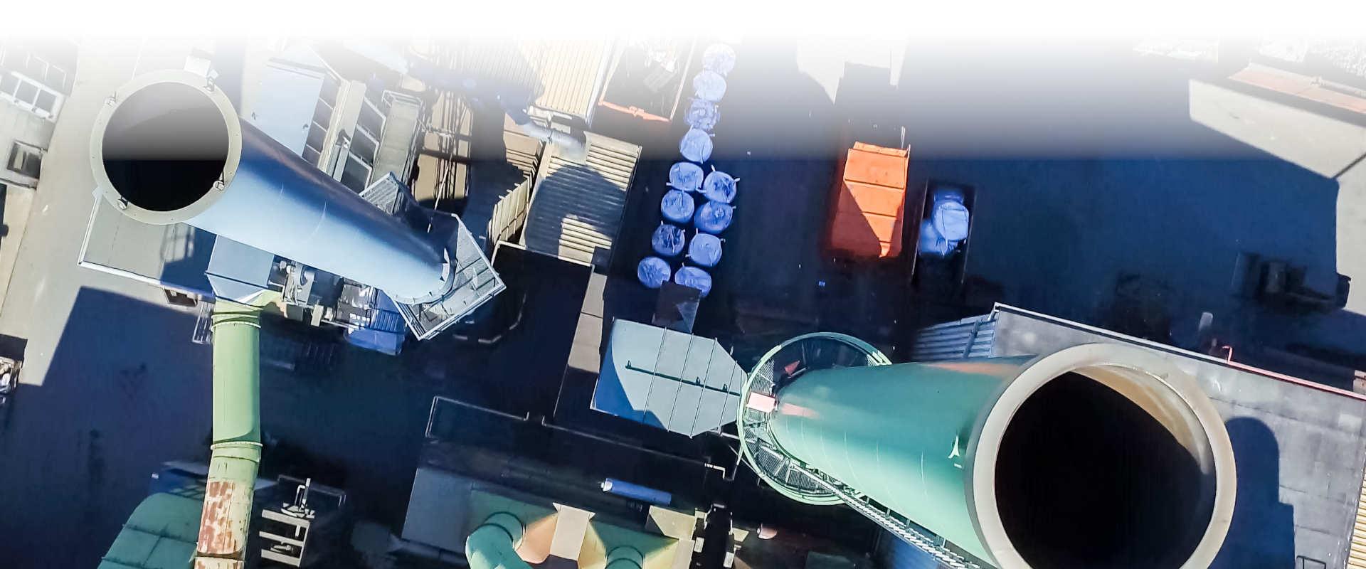 Inspección industrial mediante drone