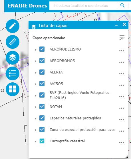 Capas operativas de aplicación ENAIRE
