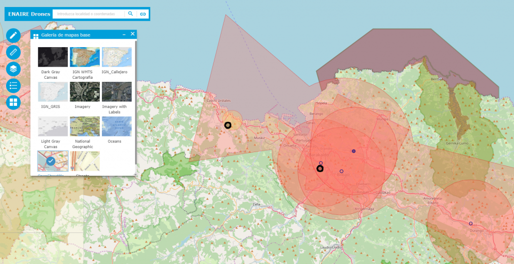Mapas Base para aplicación de drones