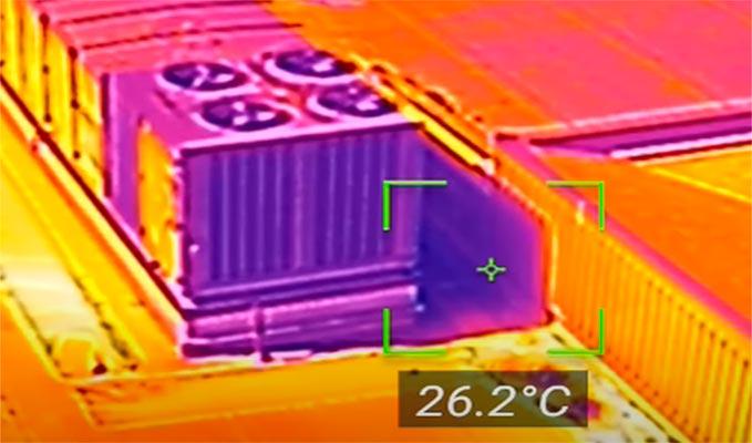 Termografía cuantitativa con drones